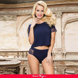Dark Blue Sexy Fashion Cotton High Quality Women Pajama Sets