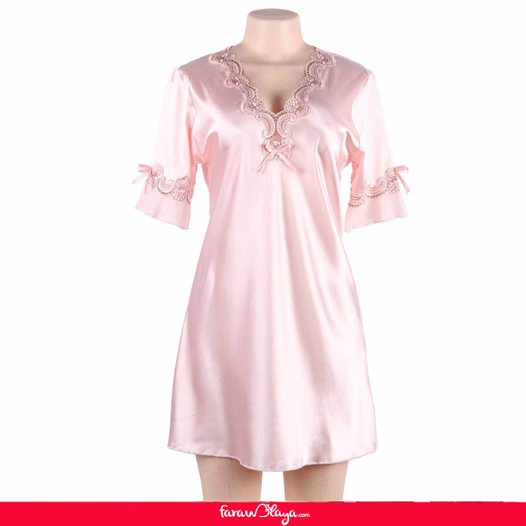 High Quality Half Long Sleeve Silk Pajama
