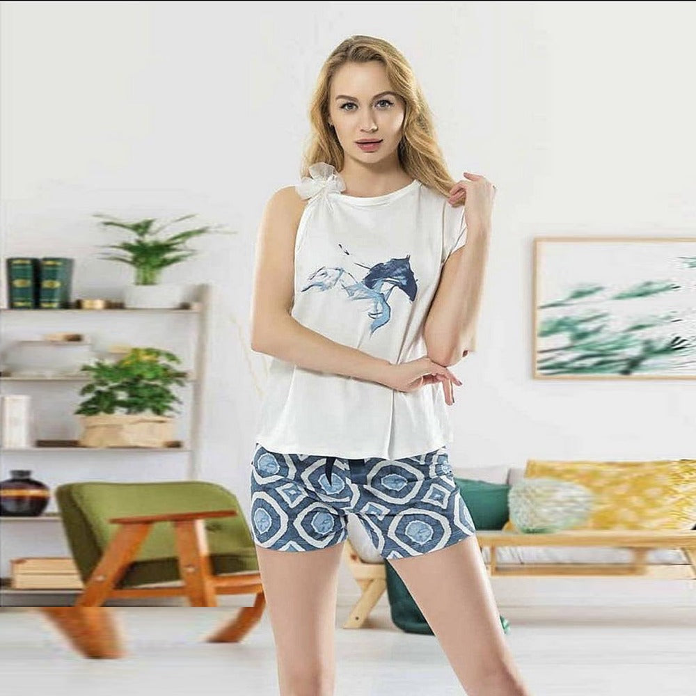 Hourse Pajama Short Set