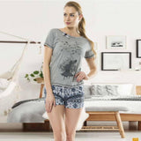 Tree Half Sleeve Pajama Short Set