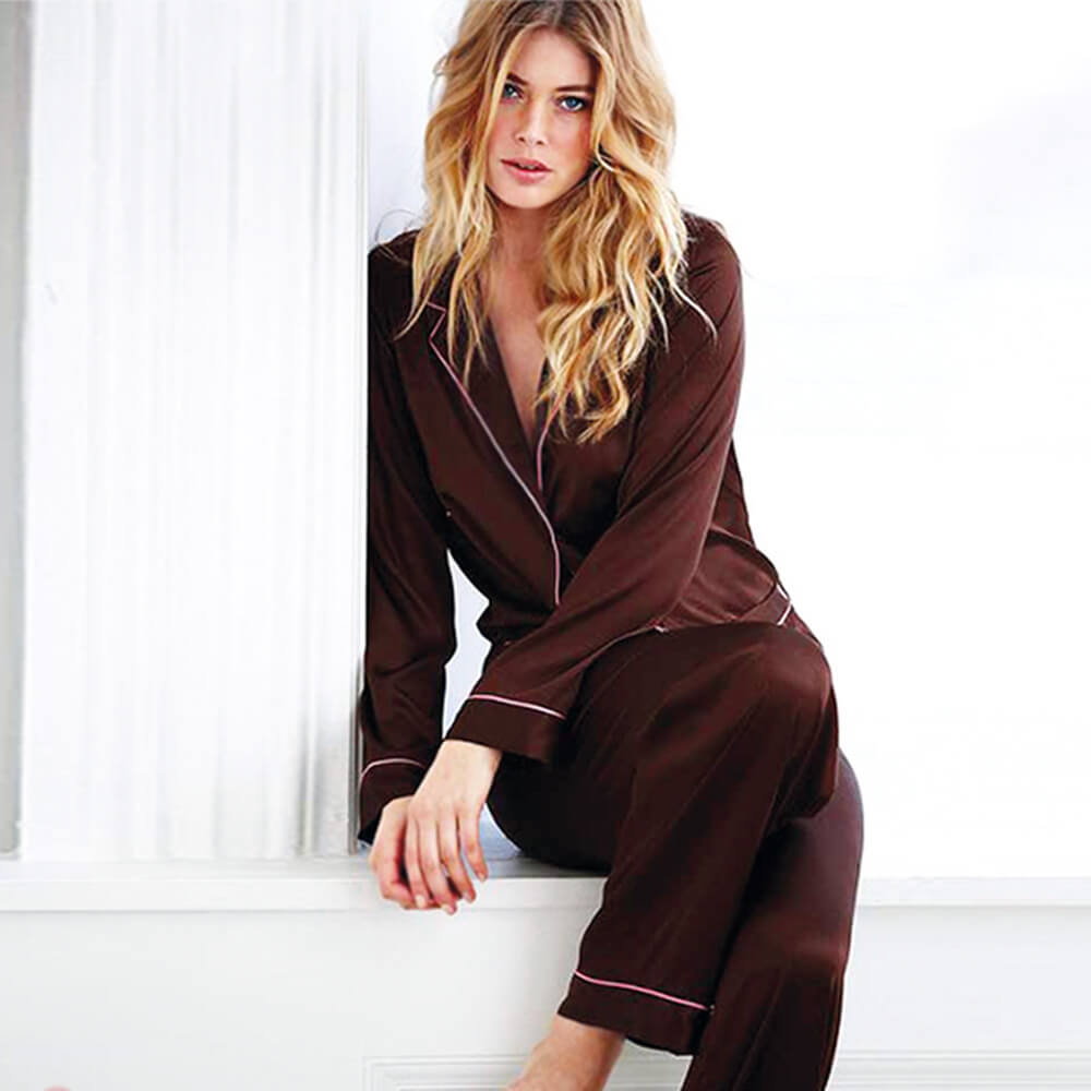 Comfortable Satin Pajama pant Set long sleeves