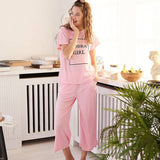 Comfortable Pajama Pantacourt pants Set