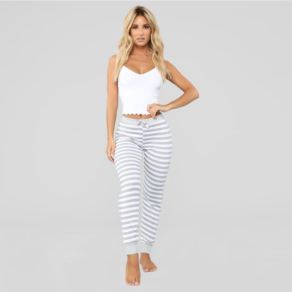 Hot Pajama with Striped Pants