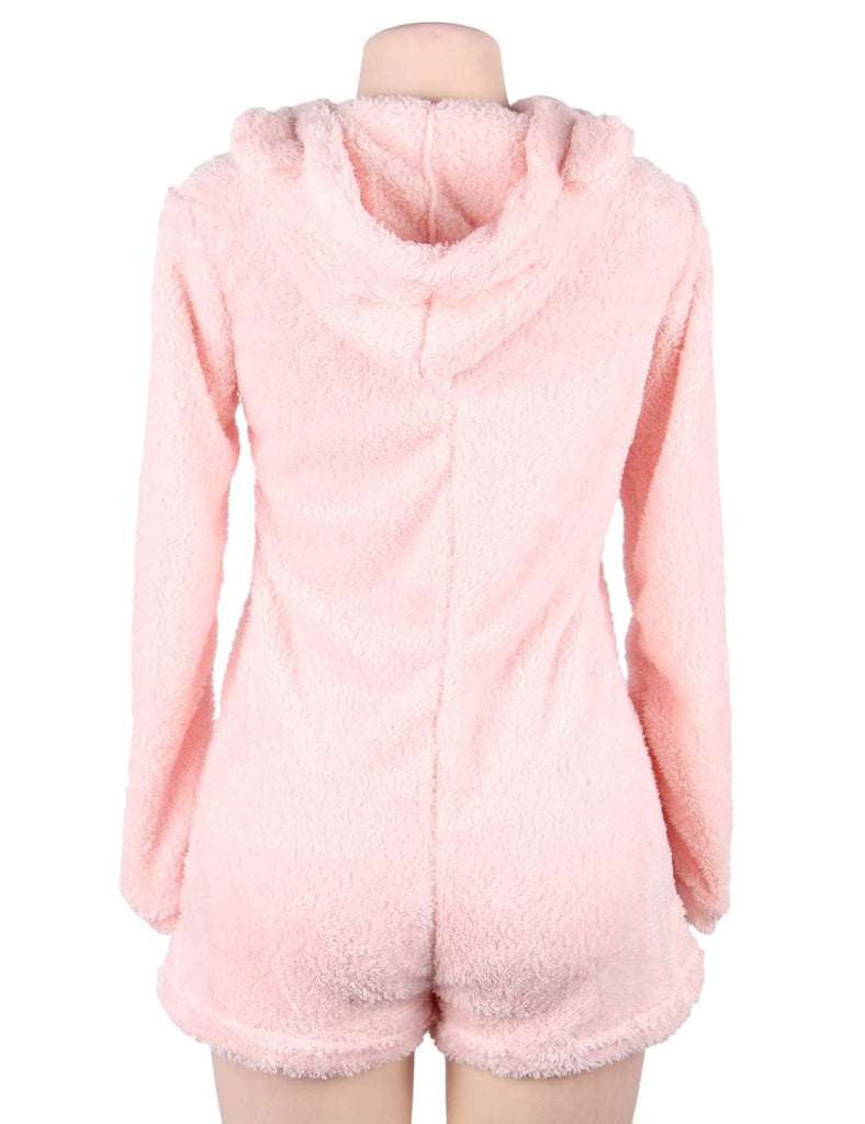 Winter Female Lamb Cashmere Pocket Hoodies Streetwear Pullover Women Tops