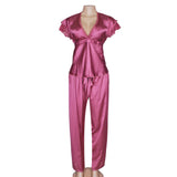 elegant satin pajama set