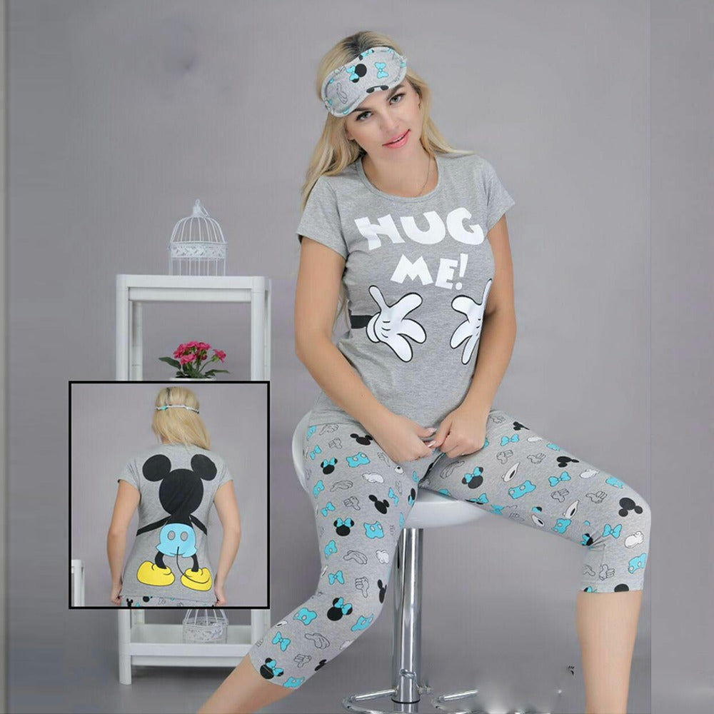 Pajama With Mickey Print Carpis Set