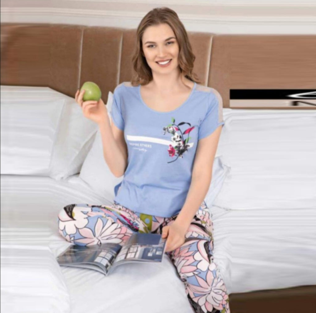 Pajamas elegant text com long pants