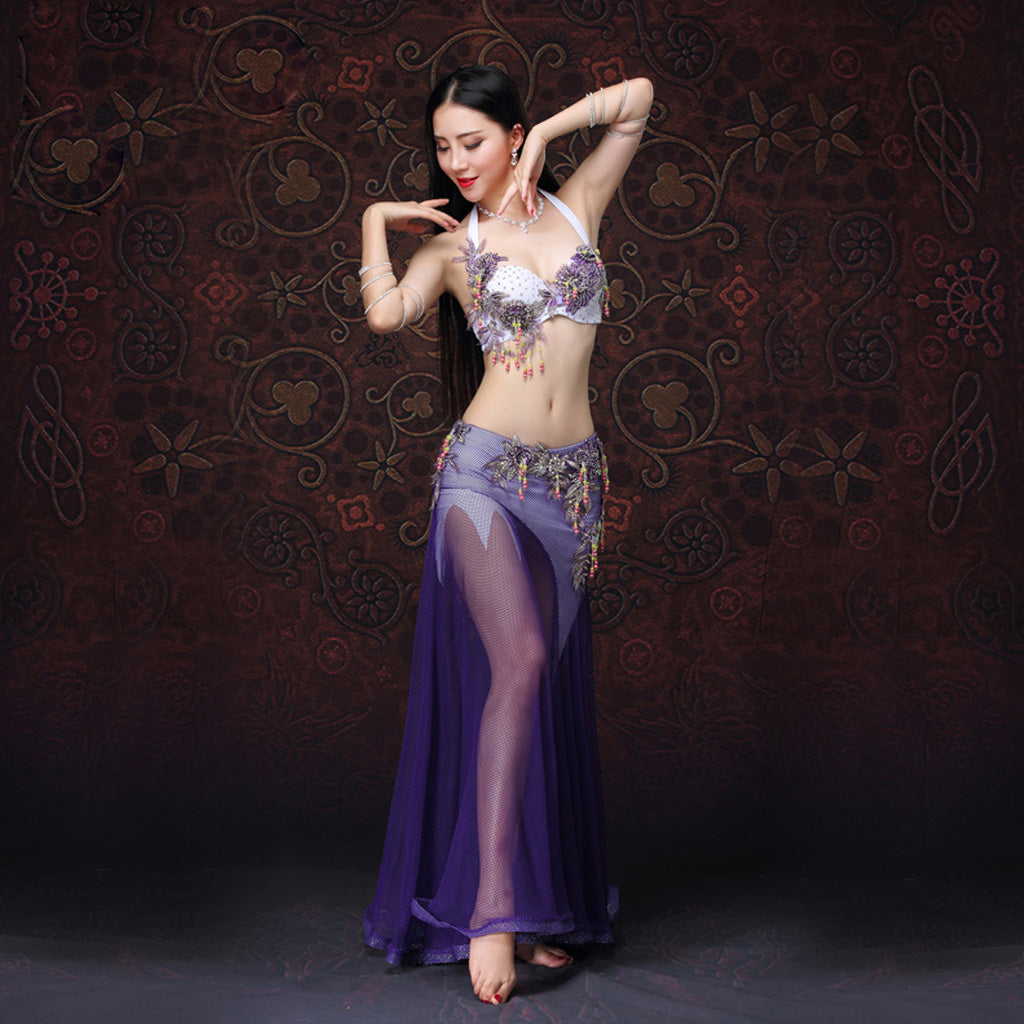 NEW oriental beaded professional belly dance costume for performance