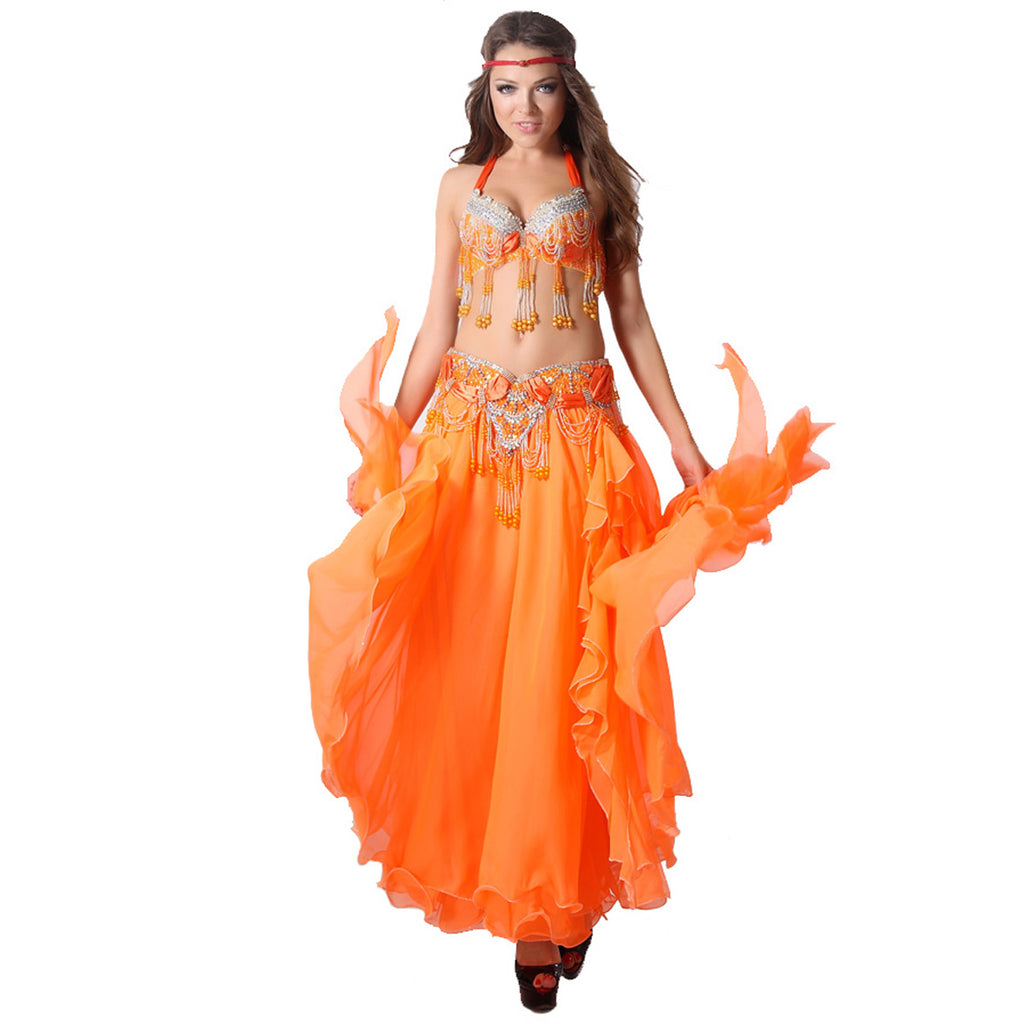 Beaded Decorated Sexy Dance Wear Plus Size Belly Dance Costume