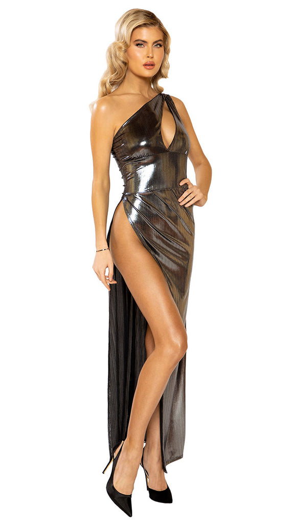 FARAWLAYA SHIMMER SHOCK ONE SHOULDER GOWN
