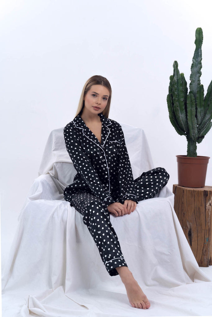 Women Satin Pyjama Set