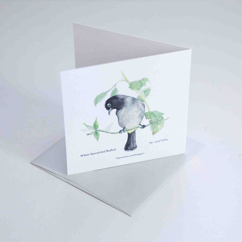 Yellow Vented Bulbul Greeting card