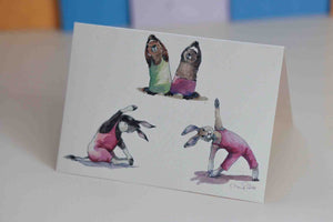 Beavers and Friends Yoga Card