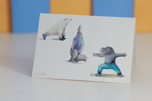 Big Guys Yoga Card