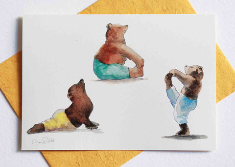 Bears Yoga Card