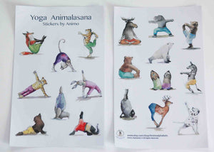 Yoga Animalsana Stickers