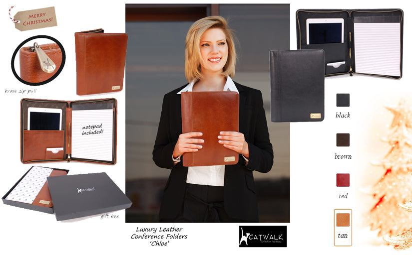 LEATHER CONFERENCE FOLDERS, FILES and FOLIOS for BUSINESSWOMEN