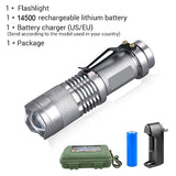 Mini LED Flashlight with Adjustable Focus