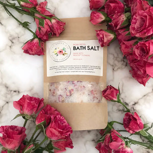 4.5 oz. Rose Petal Bath Salt {scent: signature rose}
