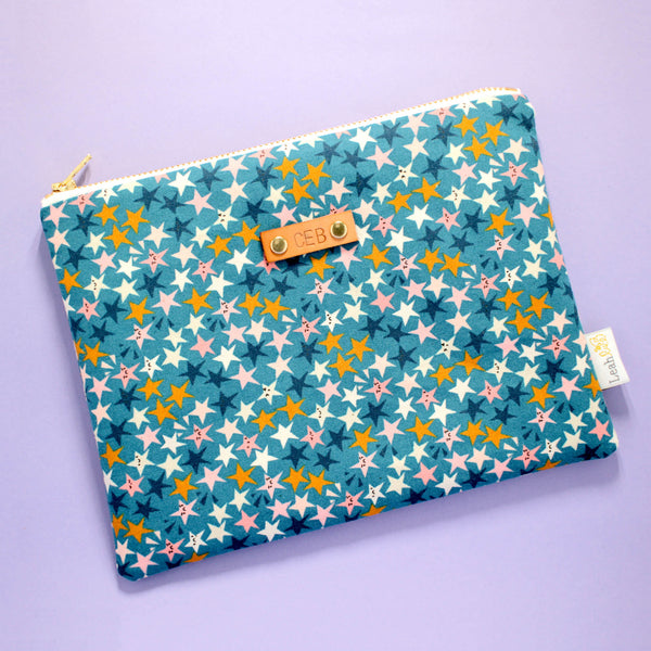 Starstruck Catch-All Clutch, Teal