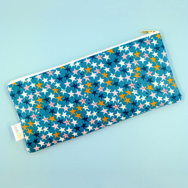 Starstruck Pencil Pouch, Teal