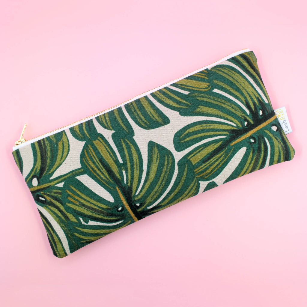 Monstera Pencil Pouch