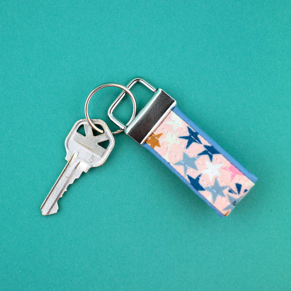 Mini Key Fob, Starstruck in Peach