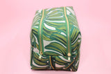 Monstera Double Zip Makeup Bag