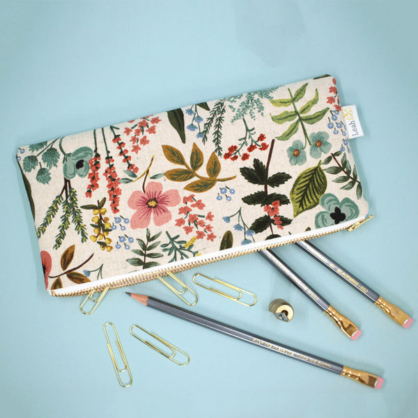 Garden Pencil Pouch, Natural