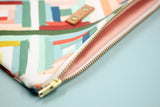 Peachy Rainbow Wristlet Clutch