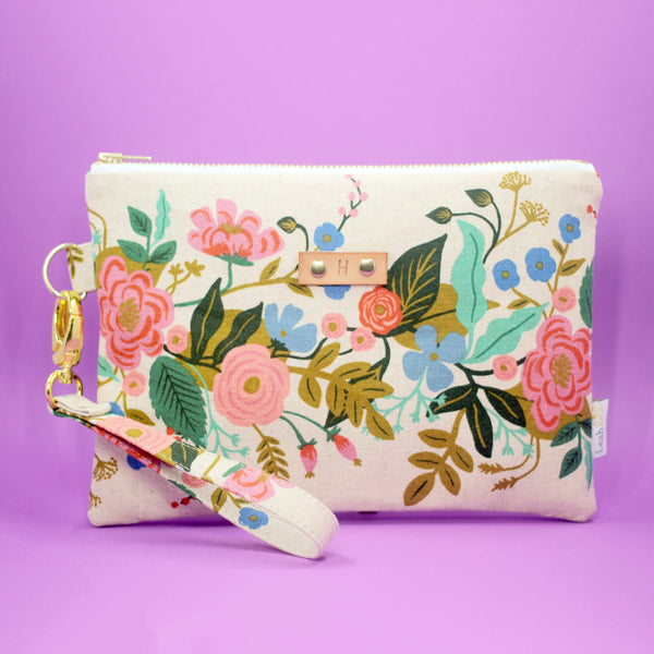 Natural Bouquet Wristlet Clutch