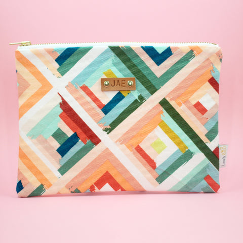 Peachy Rainbow Catch-All Clutch