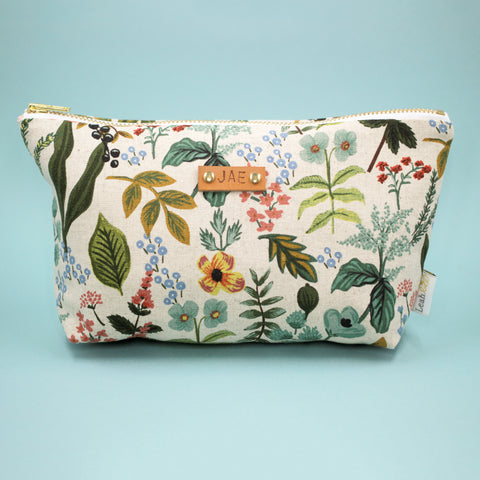 Garden Makeup Bag, Natural