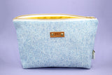 Blue Leopard Makeup Bag