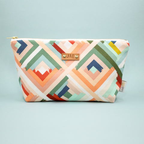 Peachy Rainbow Makeup Bag