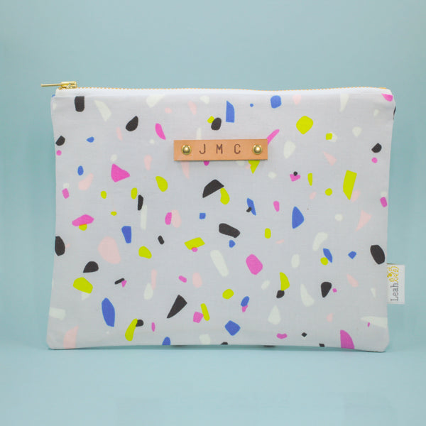 Terrazzo Catch-All Clutch - Leah Bee Quilts Tag