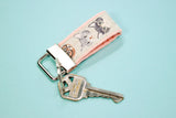 Cats with Glasses Mini Key Fob