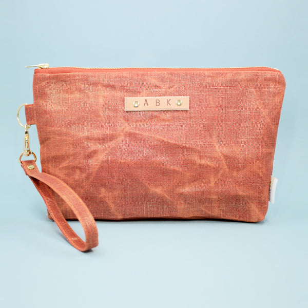 Sunset Waxed Linen Clutch