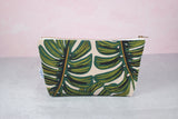 Monstera Makeup Bag