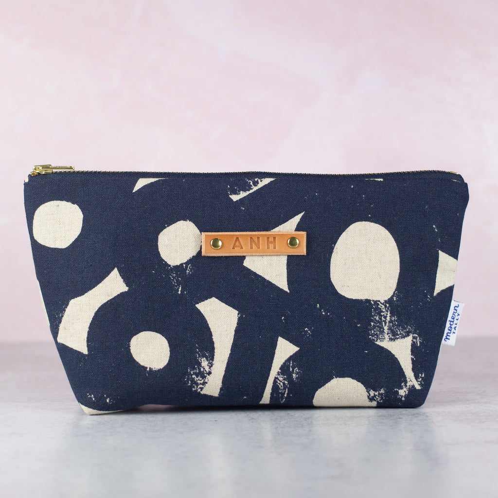 personalized makeup bag with zipper