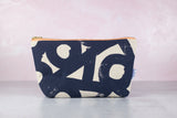 abstract canvas makeup bag