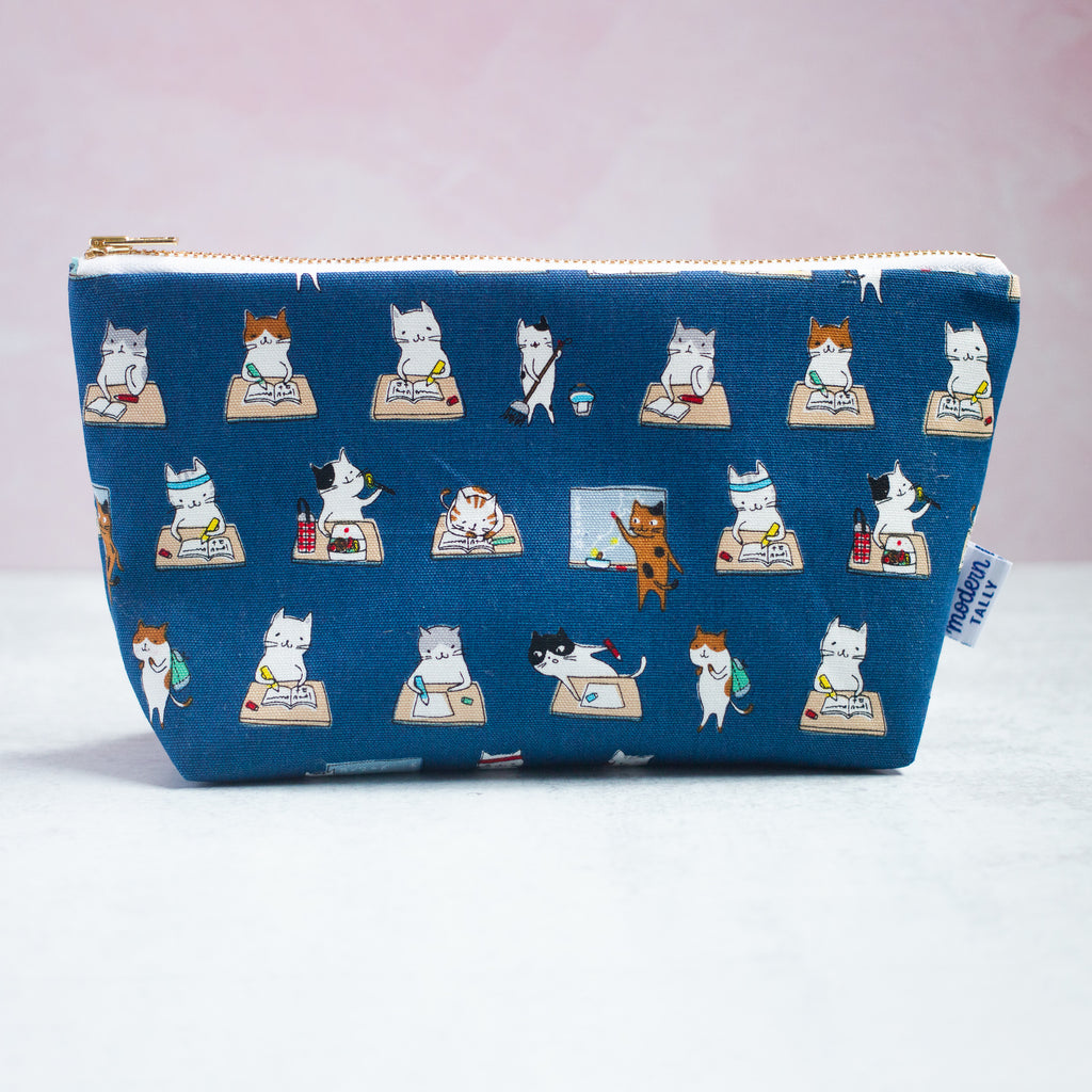 School Cats Makeup Bag