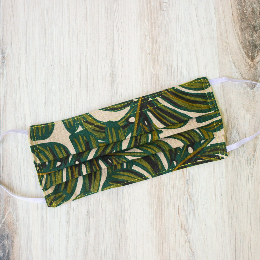 Monstera Cloth Face Mask