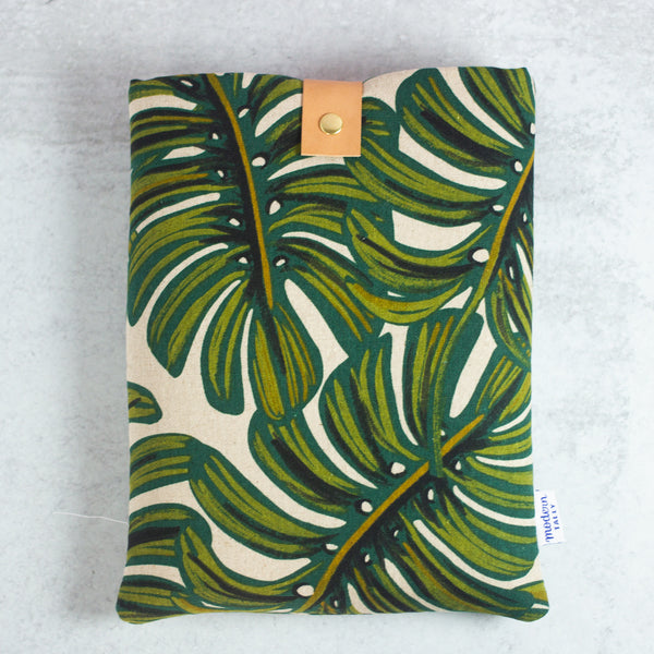 Monstera Book Sleeve