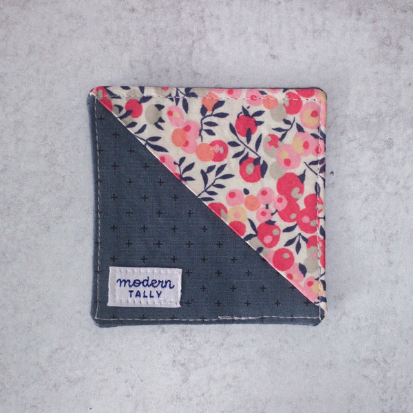 corner bookmark in liberty of london wiltshire berry print.