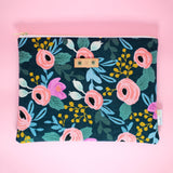 Navy Rosa Catch-All Clutch
