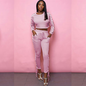 Pink or Green Two-Piece Suit