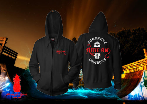 Ride On Concrete Cowboys Zip Up Hoodie