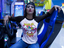 Skater Girl Bad Attitude  Raglan fashion T-Shirt
