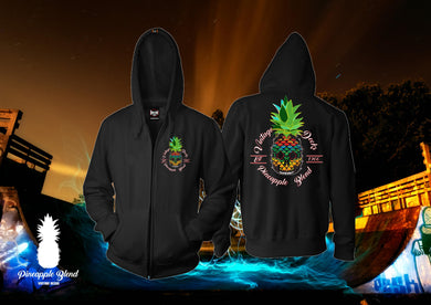 Skull Pineapple Zip Up Hoodie